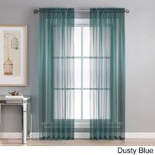 Sheer Elegance Curtains Window Elements Sheer Elegance Grommet 84 Inch Curtain Panel Pair