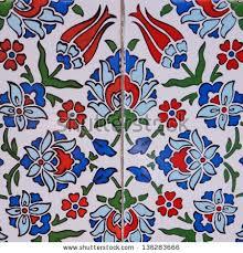 Ottoman Tiles Ancient Made Turkish Ottoman Tiles Stock Photo 136283666