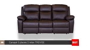 canapé 3 places but canape cuir electrique 2 places 128413 canap 3 places relax avec
