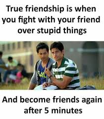 Stupid Friends Meme - dopl3r com memes true friendship is when you fight with your