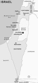 political map of israel free israel political map black and white black and white