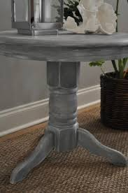 Distressed Pedestal Dining Table White Distressed Dining Table Foter