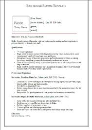 23 astonishing how to write a bartender resume on an objective for