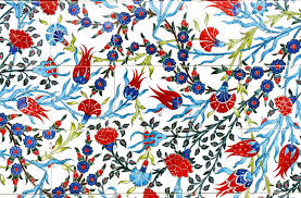 Pattern Ottoman Floral Pattern On Turkish Tiles Stock Photo Picture And Royalty