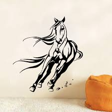 mustang horse drawing animal wall decals mustang horse sticker vinyl home decor bedroom