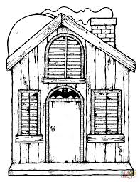 halloween house clipart haunted house coloring page free printable coloring pages