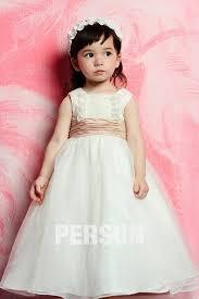 robe mariage enfants robe mariage enfant col carré en organza persun fr