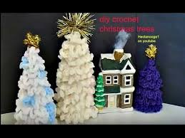 crochet christmas trees diy christmas decorations ornaments