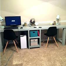 Computer Desk For Two Monitors Two Computer Desk Desk Best Desk For Two Computers Desk For Two