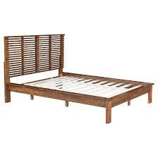 Target Platform Bed Mid Century Modern King Platform Bed Walnut Zm Home Target