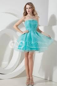 dress aqua blue sky strapless layer tulle skirt cute