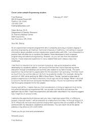 Mechanical Engineer Cover Letter Example Sample Cover Letter For Mechanical Engineer Student Cover Letter