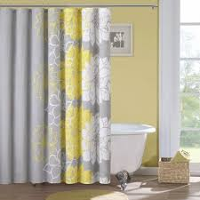 grey and yellow curtains patterned gray shower curtain for