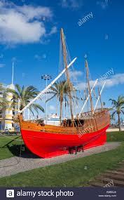 replica of la niña ship used by explorer christopher columbus in