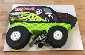 images of grave digger monster truck grave digger monster truck shaped cake trefzger s bakery