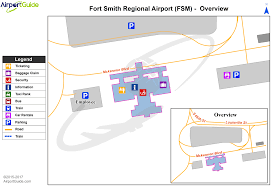 Charlotte Nc Airport Map Fort Smith Fort Smith Regional Fsm Airport Terminal Map