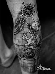compass and map tattoo google search clock ideas pinterest