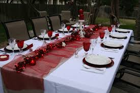 dinner table decorations home design