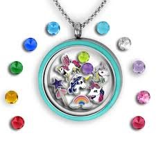 charm locket necklace charms images Happy birthday floating charm locket set tell me a charm jpg
