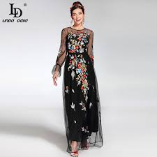 maxi dress with sleeves 2017 newest fashion runway maxi dress women s sleeve