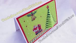 how to make 3d christmas pop up cards 3d christmas tree card