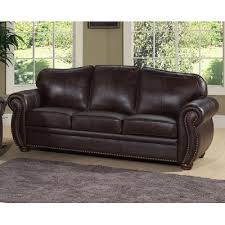 Abbyson Leather Sofa Reviews Abbyson Living Palazzo Leather Sofa Home Furniture Living