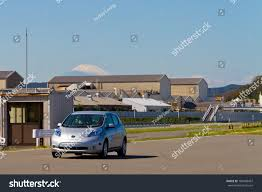 nissan japan nissan leaf mount fuji tokyo japan stock photo 189408467