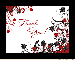 black white floral thank you notes bridal shower