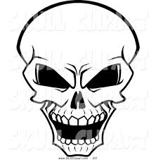 sleleton clipart halloween skeleton head pencil and in color