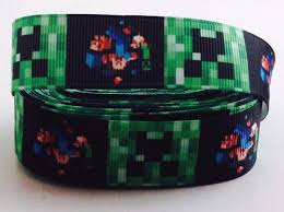 minecraft ribbon minecraft 7 8 grosgrain ribbon only 99p for scrapbooking and
