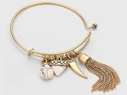 bangles charm bracelet images Chain tassel natural stone charm bangle bracelet jewel addicts jpg