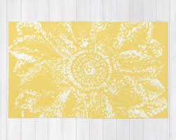 Yellow Area Rugs Floral Rug Brown And Mustard Yellow Area Rug Modern