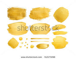 vector gold paint smear stroke stain stock vector 358042211