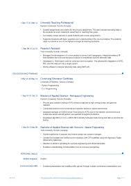 Pg Resume Format Resume Template Database