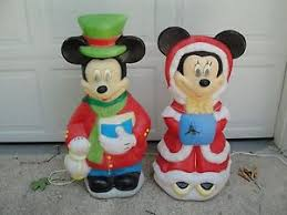 34 disney mickey minnie mouse lighted outdoor mold