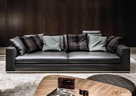 Minotti Andersen Sofa Contemporary Sofa Leather By Rodolfo Dordoni 2 Seater