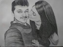 hand painted portrait pencil sketch portrait personalized