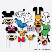 mickey mouse photo booth props mickey mouse clubhouse photo booth props and or cutouts digital
