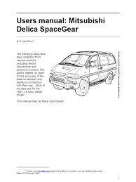 mitsubishi delica user manual spacegear 1997 e12 manual