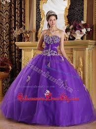 quinceanera dresses 2014 purple gown tulle beaded quinceanera dresses with appliques