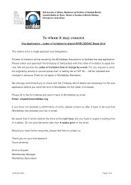 Employment Letter For Visa Uk luxury letter format germany templates design