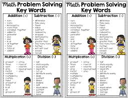 Multiplication And Division Word Problems Worksheets 4th Grade Math Key Words For Problem Solving Notebook Anchor Charts Math