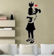 banksy stencils ideal stencils banksy girl bomb hugger stencil