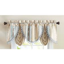 leah window valance yellow grey walmart com
