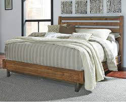 modern rustic solid wood california king bed with sleigh headboard