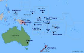 map of australia and oceania countries and capitals test your geography knowledge oceania capital cities lizard point