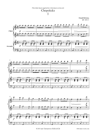 chopsticks version 1 sheet by traditional piano duet