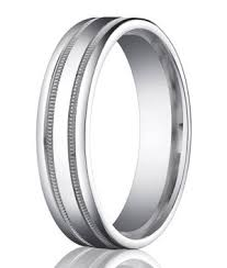 palladium mens wedding band palladium men s wedding ring 2 bands of milgrain