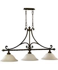 3 light island chandelier quorum international 6586 3 alameda 46 inch wide island light