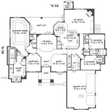 architectures fancy 4 bedroom ranch house plans for your home 12